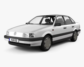 3D model of Volkswagen Passat (B3) sedan 1988