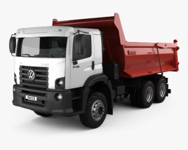 3D model of Volkswagen Constellation Tipper Truck 2011