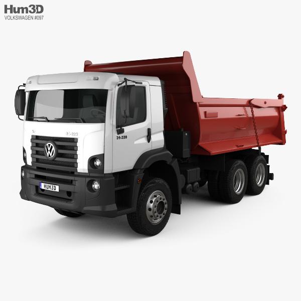 3D model of Volkswagen Constellation Tipper Truck 2011