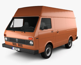 3D model of Volkswagen LT Panel Van 1975