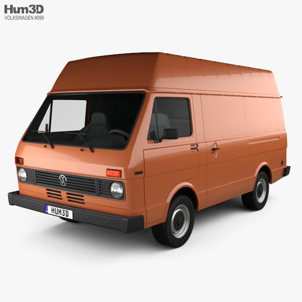 Volkswagen LT Panel Van 1975 3D model