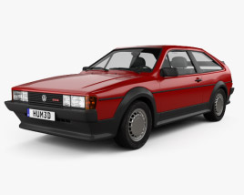 3D model of Volkswagen Scirocco 1986