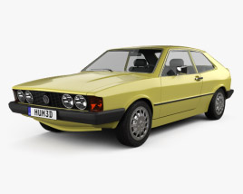 3D model of Volkswagen Scirocco 1977