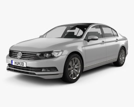 3D model of Volkswagen Passat (B8) sedan 2014