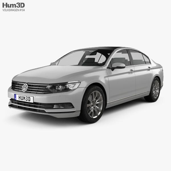 Volkswagen Passat (B8) sedan 2014 3D model
