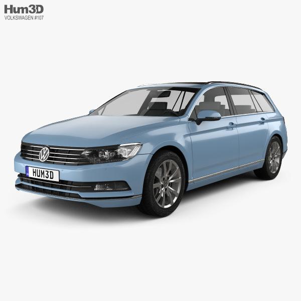 Volkswagen Passat (B8) variant 2014 3D model
