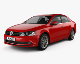 3D model of Volkswagen Jetta 2015