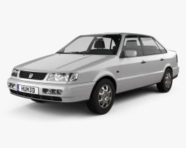 3D model of Volkswagen Passat (B4) sedan 1993