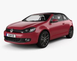3D model of Volkswagen Golf convertible 2011