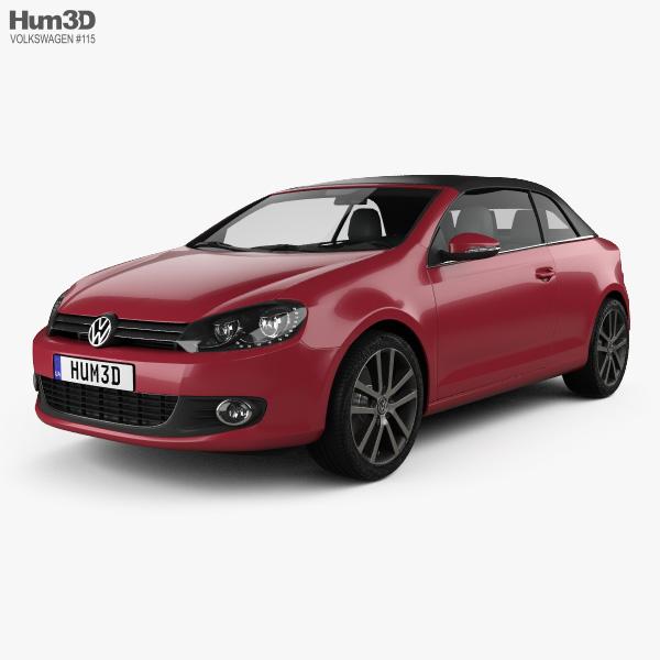 Volkswagen Golf convertible 2011 3D model