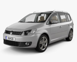 Volkswagen Touran with HQ interior 2010 3D model