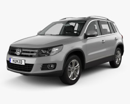 3D model of Volkswagen Tiguan Sport & Style with HQ interior 2012