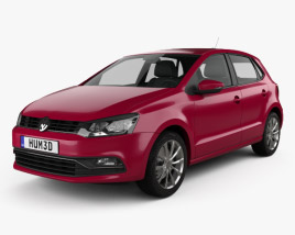 3D model of Volkswagen Polo 5-door 2014