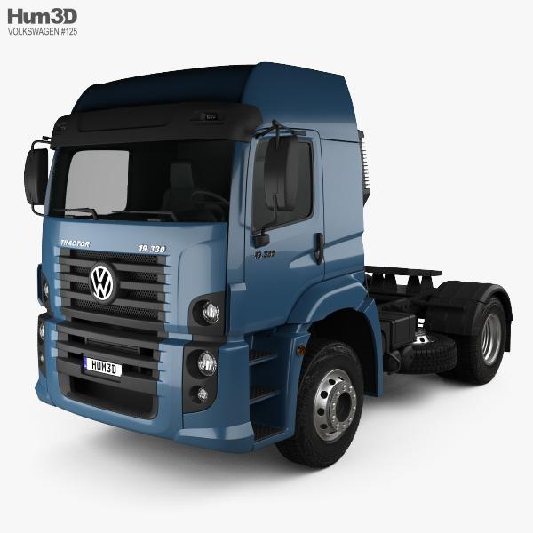 3D model of Volkswagen Constellation (19-390) Tractor Truck 2-axle 2011