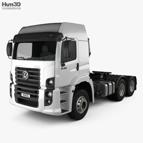 3D model of Volkswagen Constellation (25-390) Tractor Truck 3-axle 2011