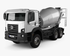 3D model of Volkswagen Constellation (26-260) Mixer Truck 3-axle 2011