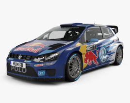 3D model of Volkswagen Polo R WRC Racecar 2015