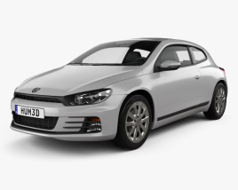 3D model of Volkswagen Scirocco 2015