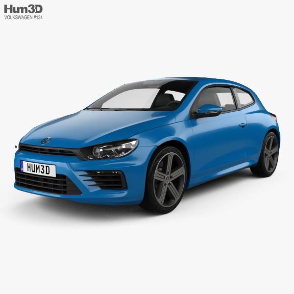 3D model of Volkswagen Scirocco R 2015