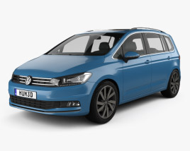 3D model of Volkswagen Touran 2015