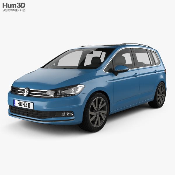 3D model of Volkswagen Touran 2015