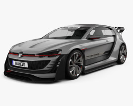 3D model of Volkswagen GTI Supersport Vision Gran Turismo 2014