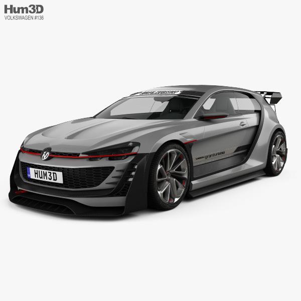 Volkswagen GTI Supersport Vision Gran Turismo 2014 3D-Modell