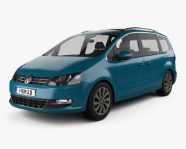 3D model of Volkswagen Sharan 2016
