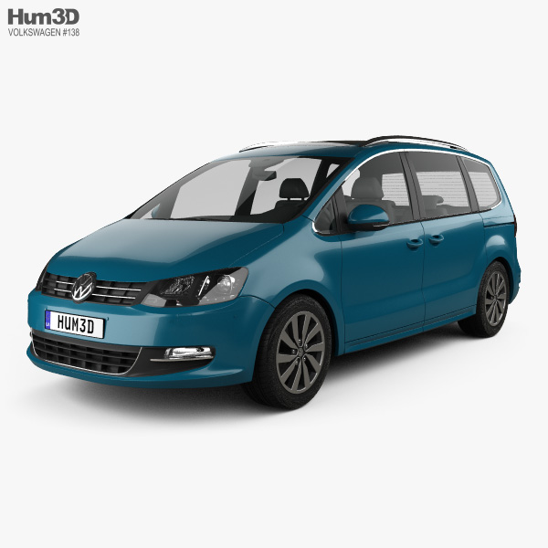 Volkswagen Sharan 2016 3D model