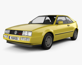 3D model of Volkswagen Corrado G60 1988