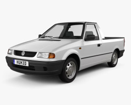 3D model of Volkswagen Caddy 1995