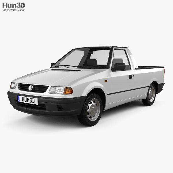 Volkswagen Caddy 1995 3D model