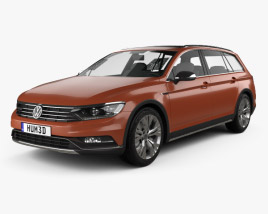 3D model of Volkswagen Passat (B8) Alltrack 2016
