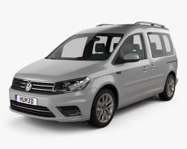3D model of Volkswagen Caddy Highline 2015