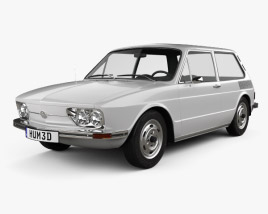 3D model of Volkswagen Brasilia 1973