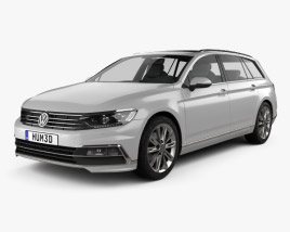 3D model of Volkswagen Passat (B8) sedan R-Line 2015
