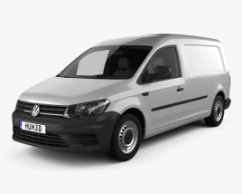 3D model of Volkswagen Caddy Maxi Panel Van 2015