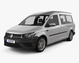 3D model of Volkswagen Caddy Maxi Trendline 2015