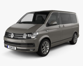 3D model of Volkswagen Transporter (T6) Multivan 2016