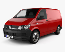 3D model of Volkswagen Transporter (T6) Panel Van 2016