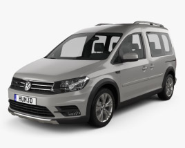 3D model of Volkswagen Caddy Alltrack 2016