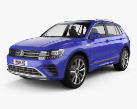 3D model of Volkswagen Tiguan GTE 2015