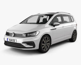 3D model of Volkswagen Touran R-Line 2015