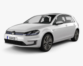 3D model of Volkswagen e-Golf 2015