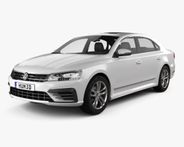 3D model of Volkswagen Passat (NMS) R-Line 2016
