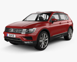 3D model of Volkswagen Tiguan 2015