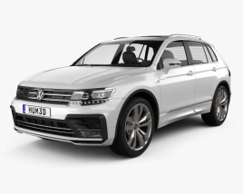 3D model of Volkswagen Tiguan R-line 2015
