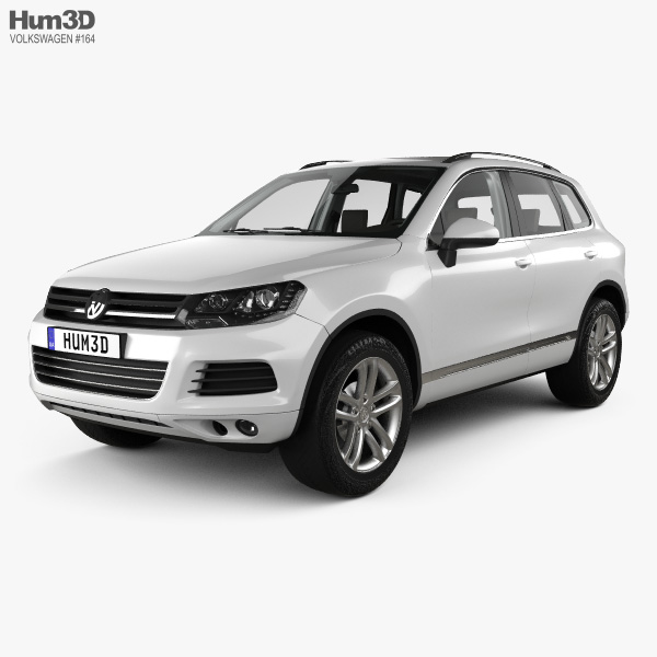 3D model of Volkswagen Touareg with HQ interior 2010
