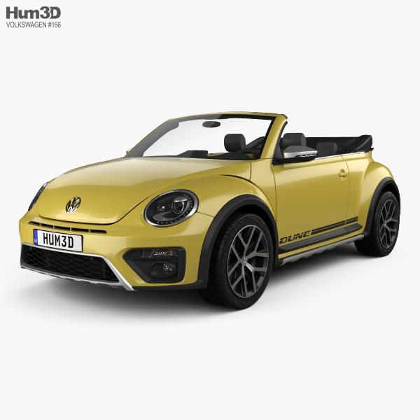 Volkswagen Beetle Dune Convertible 2016 3D model