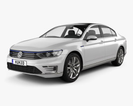 3D model of Volkswagen Passat (B8) sedan GTE 2015